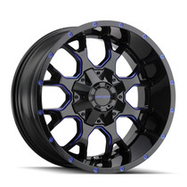 Mayhem Warrior Black w/ Prism Blue 18x9 6x135/6x139.7 -12mm 106mm