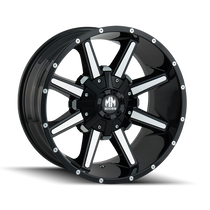 Mayhem Arsenal Gloss Black/Machined Face 17X9 5x114.3/5x127 18mm 87mm