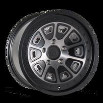 Mayhem Flat Iron Matte Black w/ Dark Tint 17x9 5x114.3 -6mm 72.6mm