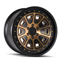 Mayhem Flat Iron Matte Black w/ Bronze Tint 18x9 6x135 0mm 87.1mm