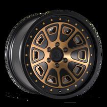 Mayhem Flat Iron Matte Black w/ Bronze Tint 17x9 6x120 -6mmm 66.9mm