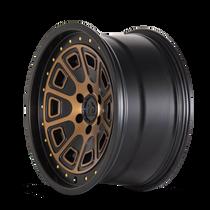Mayhem Flat Iron Matte Black w/ Bronze Tint 17x9 6x120 -6mmm 66.9mm - wheel side view