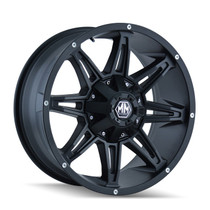 Mayhem Rampage 8090 Matte Black 17x9 5x127/5x139.7 -12mm 87mm