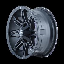 Mayhem Rampage 8090 Matte Black 22x9.5 8x180 -6mm 124.1mm - wheel side view