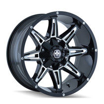 Mayhem Rampage 8090 Black/Milled Spokes 18x9 8x180 -12mm 124.1mm