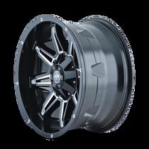 Mayhem Rampage 8090 Black/Milled Spokes 18x9 5x150/5x139.7 -12mm 110mm - wheel side view
