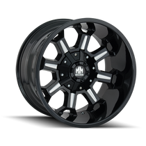 Mayhem Combat Gloss Black/Milled Spokes 17X9 5x114.3/5x127 18mm 87mm