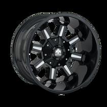 Mayhem Combat Gloss Black/Milled Spokes 17X9 6x120/6x139.7 18mm 78.10mm