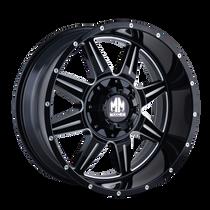 Mayhem 8100 Monstir Gloss Black/Milled Spokes 17X9 5x127/5x139.7 -12mm 87mm