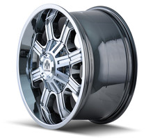 Mayhem Beast 8102 Chrome 20x9 6x135/6x139.7 18mm 106mm - wheel side view