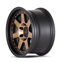 Mayhem Prodigy 8300 Matte Black w/ Bronze Tint 17x9 6x120 -6mm 66.9mm- wheel side view