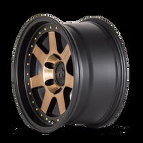 Mayhem Prodigy 8300 Matte Black w/ Bronze Tint 20x9 6x139.7 0mm 106mm - wheel side view