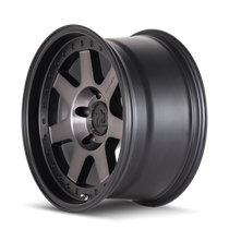 Mayhem Prodigy 8300 Matte Black w/ Dark Tint 20x9 5x150 0mm 110mm - wheel side view