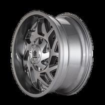 Mayhem Hatchet 8106 Gloss Gunmetal w/ Black 20x9 8x180 18mm 124.1mm - wheel side view