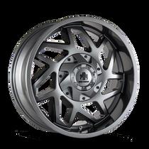 Mayhem Hatchet 8106 Gloss Gunmetal w/ Black 20x9 5x139.7/5x150 18mm 110mm