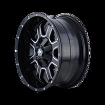 Mayhem Fierce 8103 Gloss Black/Milled Spokes 17X9 5-114.3/5-127 -12mm 87mm - wheel side view