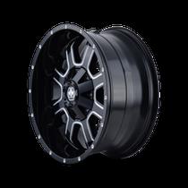 Mayhem Fierce 8103 Gloss Black/Milled Spokes 18x9 6x120/6x139.7 18mm 78.1mm - wheel side view