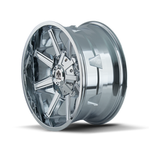 Mayhem Arsenal 8104 Chrome 17X9 6x120/6x139.7 18mm 78.10mm - wheel side view