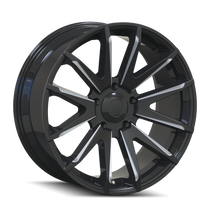 Mayhem Crossfire 8109 Gloss Black/Milled Spokes 20x9.5 6x139.7 25mm 106mm