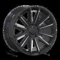 Mayhem Crossfire 8109 Gloss Black/Milled Spokes 22x9.5 6x114.3 18mm 87.1mm