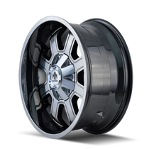 Mayhem Fierce 8103 PVD2 Chrome 20X9 5x39.7/5x150 0mm 110mm - wheel side view