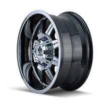 Mayhem 8100 Monstir Chrome 20x9 6x135/6x139.7 18mm 106mm - wheel side view