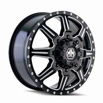 Mayhem 8101 Monstir Front Black Milled Spokes 19.5x6.75 8x165.1 102mm 121.3mm