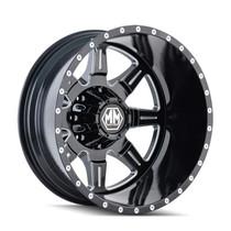 Mayhem 8101 Monstir Rear Black Milled Spokes 19.5x6.75 8x165.1 -143mm 121.3mm