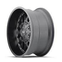 Mayhem Cogent Matte Black 17x9 6x135/6x139.7 -12mm 106mm - wheel side view