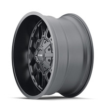 Mayhem Cogent Matte Black 20x9 6x135/6x139.7 18mm 106mm - wheel side view