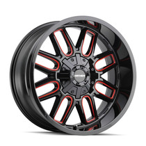 Mayhem Cogent Gloss Black w/ Prism Red 17x9 8x165.1/8x170 -12mm 130.8mm