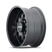 Mayhem Scout Matte Black 20x9 6x139.7 18mm 106mm - wheel side view
