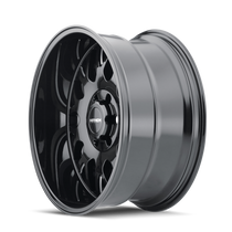 Mayhem Tripwire Gloss Black w/ Milled Spokes 20x9 5x139.7 0mm 87.1mm - wheel side view