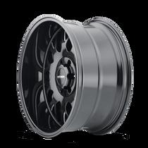 Mayhem Tripwire Gloss Black w/ Milled Spokes 20x9 5x139.7 0mm 87.1mm - wheel side view