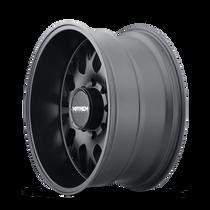 Mayhem Tripwire Matte Black 20x9 8x165.1 18mm 130.8mm- wheel side view