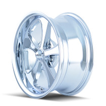 Ridler 645 Chrome 18x9.5 5x120.65 0mm 83.82mm - wheel side view
