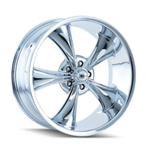 Ridler 695 Chrome 22X10.5 5-115 18mm 83.82mm
