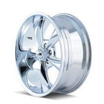Ridler 695 Chrome 22X10.5 5-115 18mm 83.82mm - wheel side view