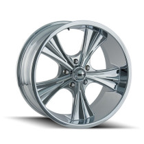 Ridler 651 Chrome 22X9.5 5x120 18mm 66.9mm