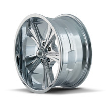 Ridler 651 Chrome 22X9.5 5x120 18mm 66.9mm - wheel side view