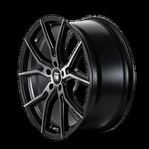 Touren TF01 Brushed Matte Black w/ Dark Tint 17x7.5 5x108 40mm 63.5mm - wheel side view