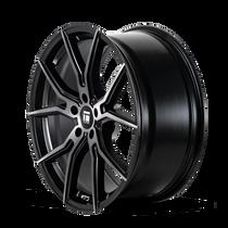 Touren TF01 Brushed Matte Black w/ Dark Tint 17x7.5 5x114.3 40mm 72.6mm - wheel side view