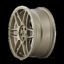 Touren TR74 Matte Gold 17x8 5x108/5x114.3 40mm 72.56mm - wheel side view