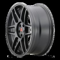 Touren TR74 Matte Black 17x8 5x108/5x114.3 40mm 72.56mm - wheel side view
