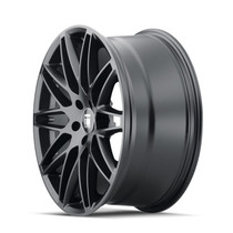 Touren TR75 Matte Black 18x8 5x114.3 40mm 72.6mm - wheel side view