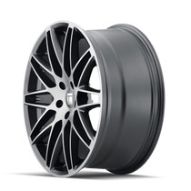 Touren TR75 Brushed Matte Black 18x8 5x114.3 40mm 72.6mm- wheel side view