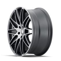 Touren TR75 Brushed Matte Black 19x8.5 5x114.3 35mm 72.6mm- wheel side view