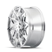 Mazzi 372 Big Easy Chrome 20x8.5 5x108/5x114.3 35mm 72.6mm - wheel side view