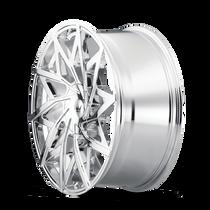 Mazzi 372 Big Easy Chrome 24x9.5 5x115/5x120 18mm 74.1mm - wheel side view