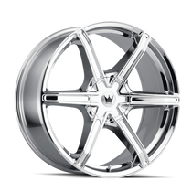 Mazzi 371 Stilts Chrome 20x8.5 5x108/5x114.3 35mm 72.6mm
